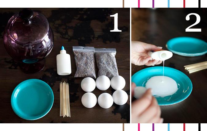 DIY-Lavender balls-montreal-blog-step 1 & 2