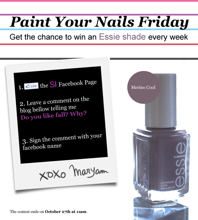 Essie contest blog - Merino cool