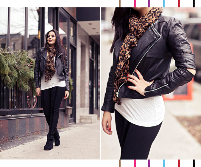 Maje Leather Jacket - Montreal Fashion Blog