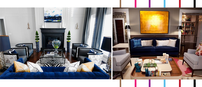 Decoration inspiration : Navy and Yellow