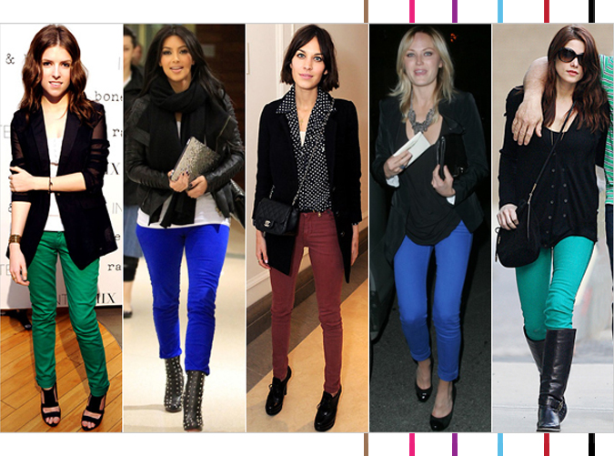 Colored Jeans by Stars | Serial Indulgence Fashion Blog Montreal