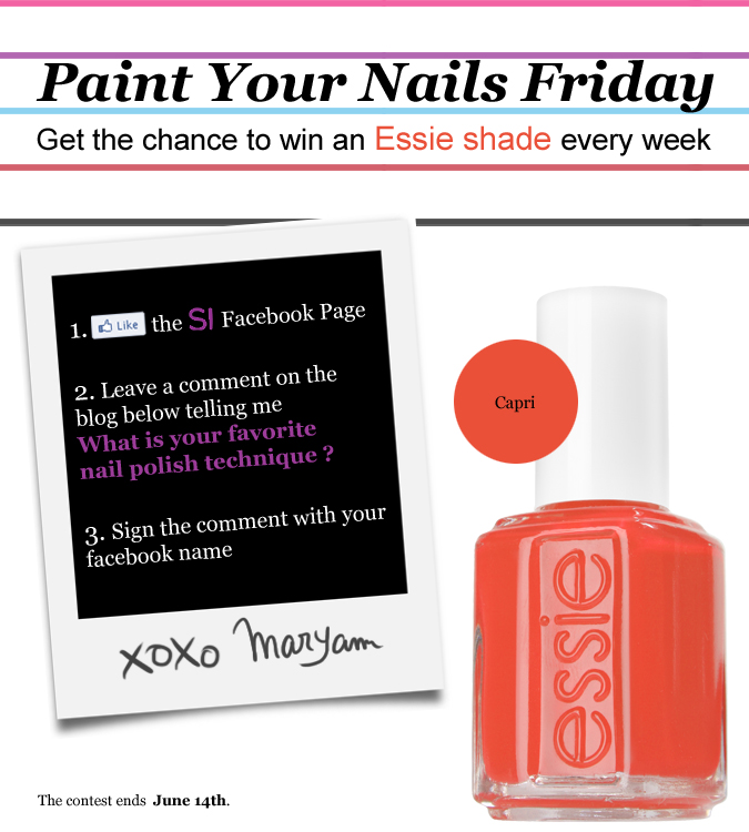 Essie Contest - Serial Indulgence Canada Fashion Blog