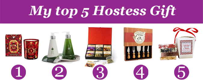 Top 5 Hostess Gift - Lifestyle blog Montreal