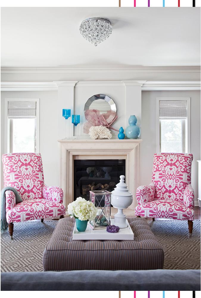 Ikat living room