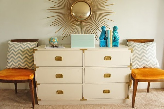 White Campaign Dresser via Clementine + Olive